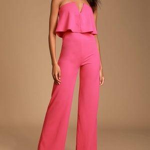 Lulus Pink Jumpsuit